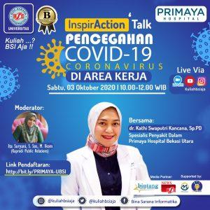 UBSI Ajak Masyarakat  Cegah COVID_19 Melalui Webinar 'InspirAction Talk'