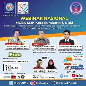 UBSI Besama MGBK SMK Kota Surkarta Tingkatkan Pendidikan Karakter & Workshop Bahan Ajar