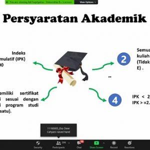 Prodi Sistem Informasi Akuntansi Kampus Kota Bogor Menggelar Webinar Sosialisasi Tugas Akhir