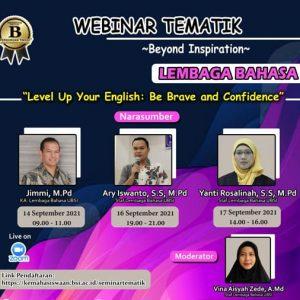 Bangun Percaya Diri Dengan Berbahasa Inggris