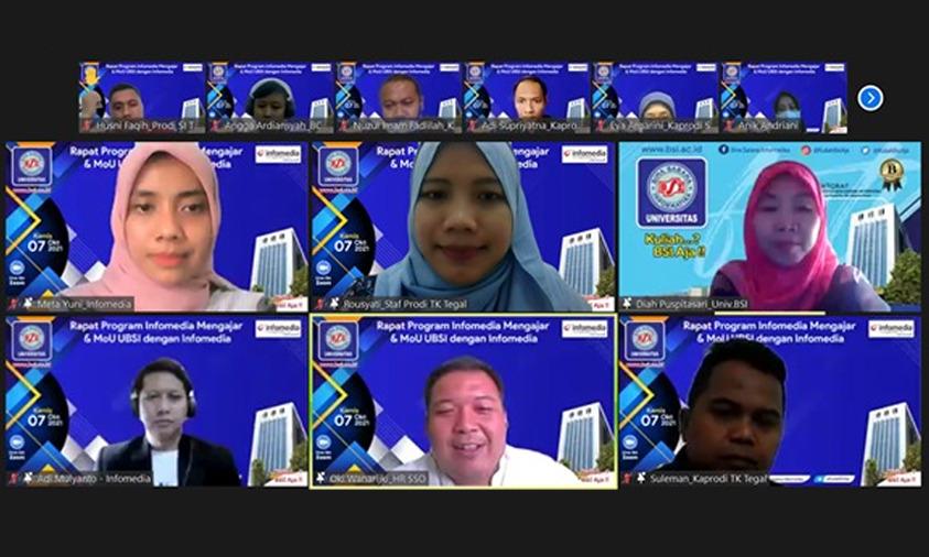 Tindak Lanjuti Kerja Sama, Universitas BSI Lakukan MoU Dengan PT Infomedia Nusantara