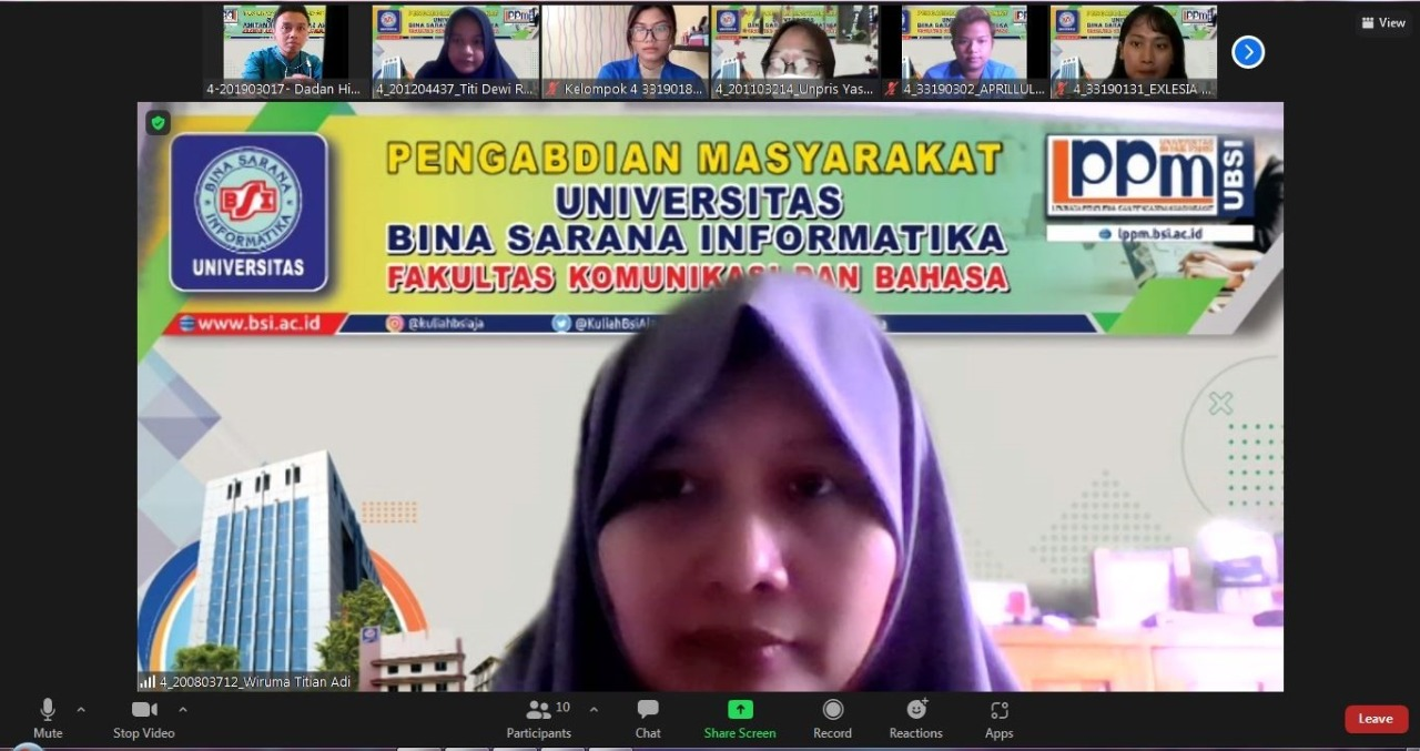 Dosen Universitas BSI Berikan Pelatihan Bahasa Inggris Imperative Sentence